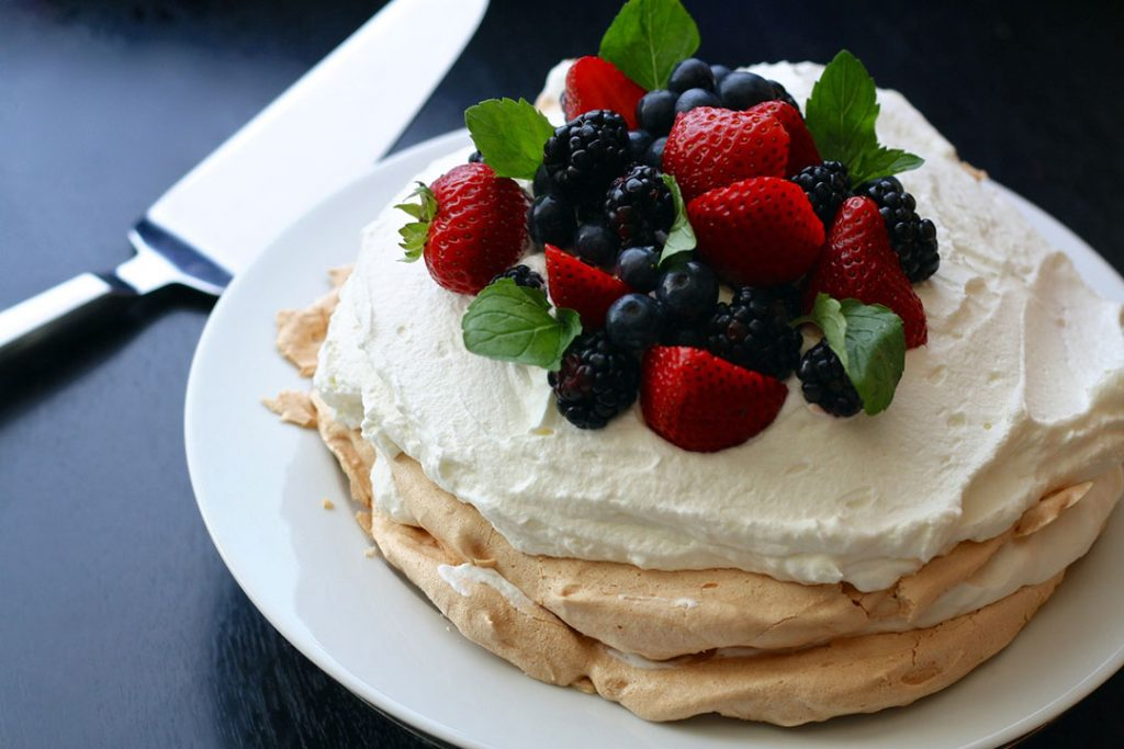 Winter Berry Pavlova